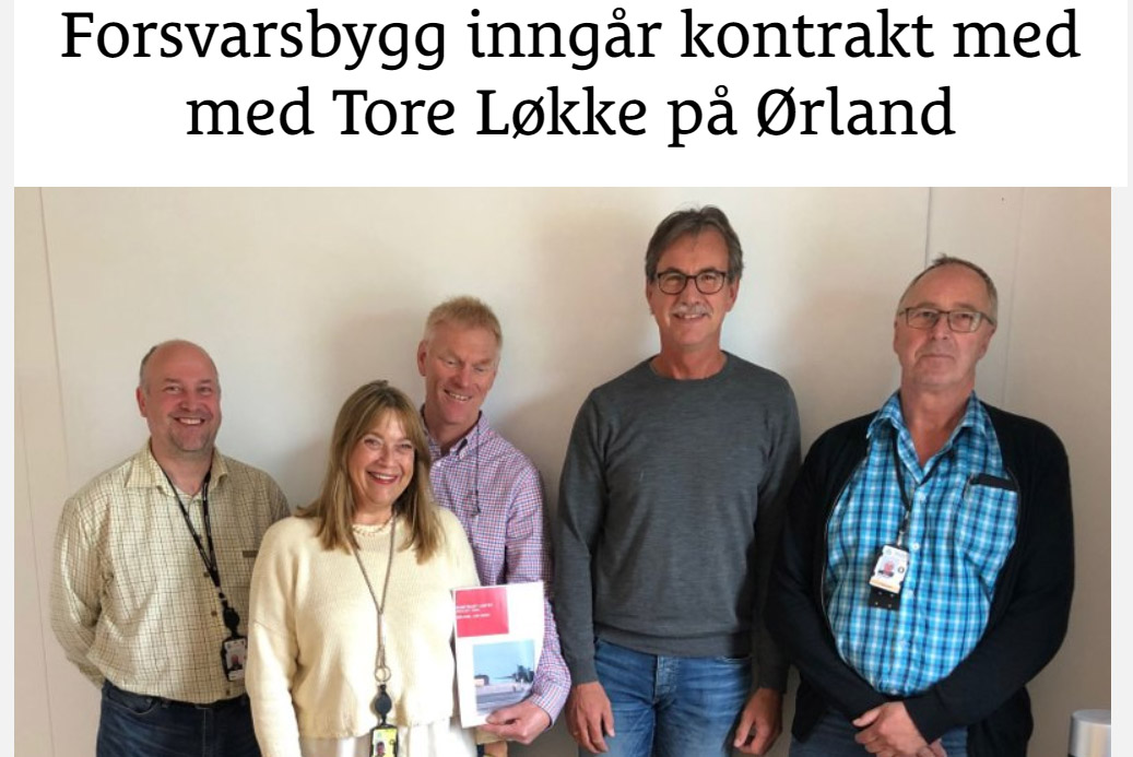 Forsvarsbygg inngår kontrakt med med Tore Løkke på Ørland