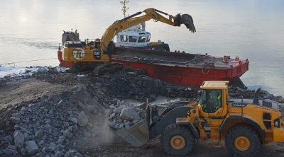 Hammerfest Terminal: Fylling av masser i splittlekter