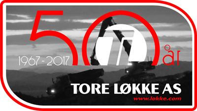 Tore Løkke A/S - logo 50 år